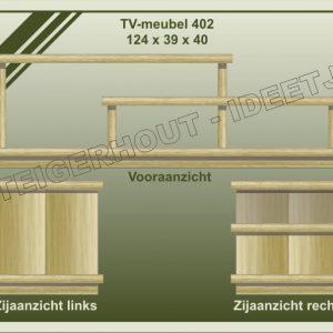 10. TV-meubel 124x39x40