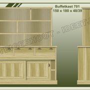 14. Buffetkast nr. 701 150x48-39x180