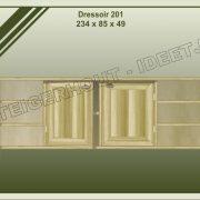 15. Dressoir nr. 201 234x49x85