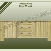 16. Dressoir nr. 202  220x45x85