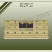 17. Dressoir nr. 203  180x39x77