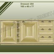 18. Dressoir nr. 204  160x48x77