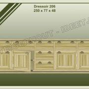 20. Dressoir nr. 206  250x48x77