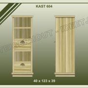 24. Kast nr. 604  40x39x123