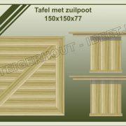 31. Tafel met zuilpoot 150x150x77